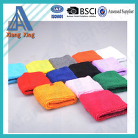 Promotion Cheap Multi-Functional custom terry cloth wristband wholesale