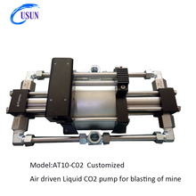 New technology Model :AT10-C02 Customized air driven Liquid CO2 pump for coal or mine blasting industry