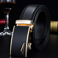 Business men leather belt new leisure automatic buckle air waistband