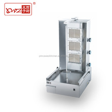 industrial stable gas 3 burners vertical broiler chicken rotisserie shawarma machine for sale