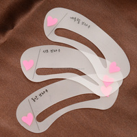 High Quality Makeup Tools 3 Types Per Pack Eyebrow Template Eyebrow stencil Eyebrow Stencils