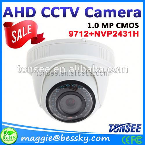 720P 1.0megapixel ahd video camera dome IR-CUT Night Vision 12V/1A Built-in CS4mm( MP) Board Lens,Digital Camera Type outdoor