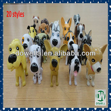 Mini 3D Plastic PVC Dog Animal Figures Toys Promotion Gifts Decorations Girls Kids Collections