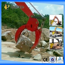 SPARKLE hydraulic wood grapple/ hydraulic stone grapple used for excavator