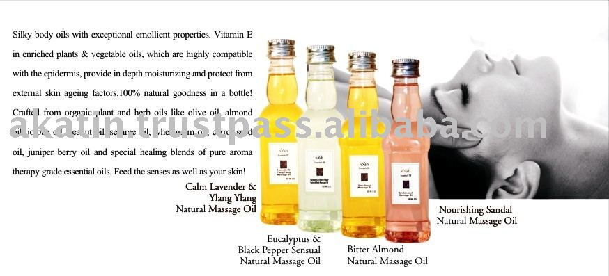 100% Natural Face & Body Massage Oils
