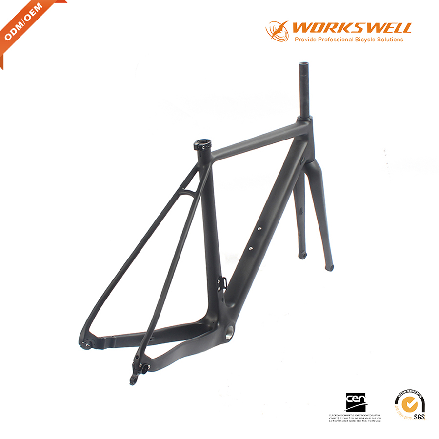 Cyclocross Bicycle Full Carbon Fiber CX Road Bike Frame Made in China Thru Axle Disc Brake 142*12 Bicycle Frameset