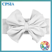 2015 Brand New Girls Hair Accessories White Elastic Headband For Baby Girl Hair Bows