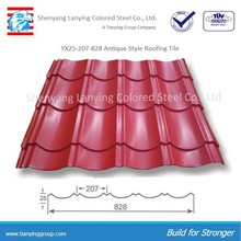 Low cost high quality YX25-207-828 Antique roof tile