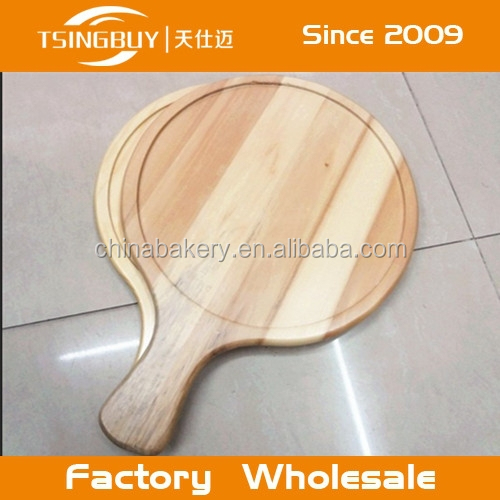 eco-friendly round wooden pizza board for sale
