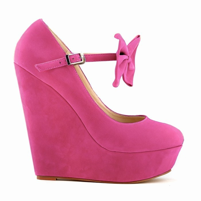 Get Quotations · WOMENS LADIES HIGH HEELS BOW SUEDE PLATFORM HIGH WEDGE  WEDDING SHOES US SIZE 4 5 6 6f9d71c071