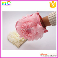 2016 new fashion beautiful colorful bath sponge bath glove with thumb more Bubble
