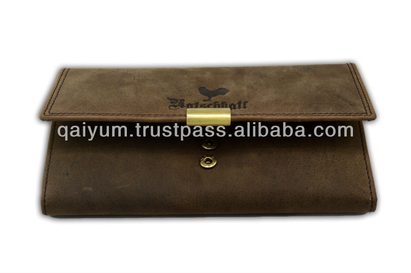Golden Metal Fitting wallet