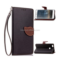 In stock !!! wholesale leather leaf sahpe wallet card mobile phone case for htc desire 320