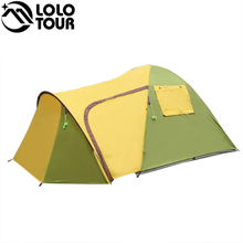 (75+55+205)*215*145cm One Bedroom and One Living Room Double Portable Outdoor Mountaineering Family Camping Tent