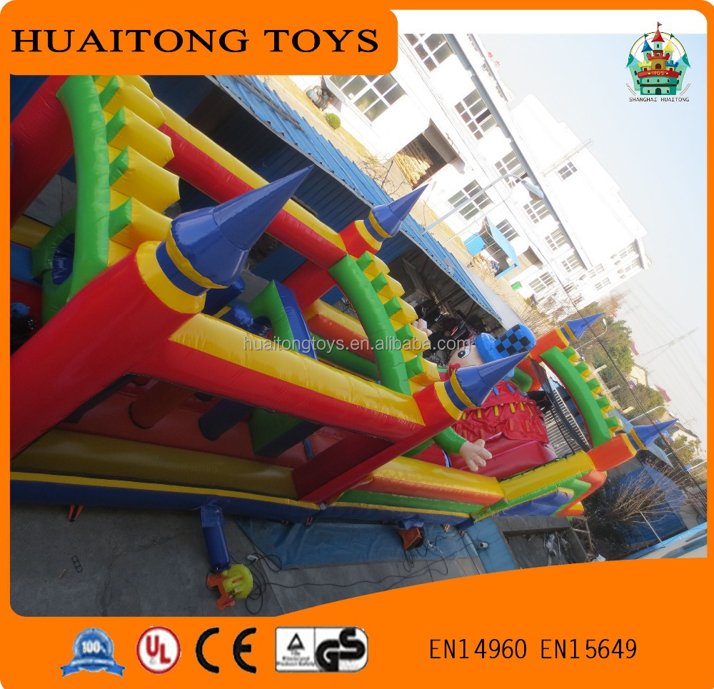 lovely giant baby inflatable obstacle courses with cartoon characters