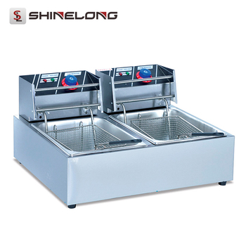 China professional fully automatic electric double tanks and baskets industrial deep fryer