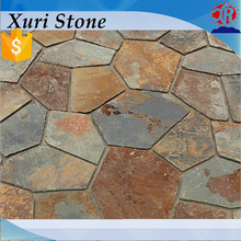 rusty natural stone slate paving