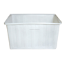 Colored plastic textile container with wheels