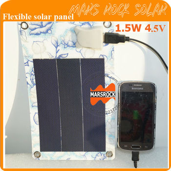 1.5W 4.5V Small Flexible Solar Panel Printed Rose Flower, USB Interface Applied in Charging iPhone, Samsung Mobile