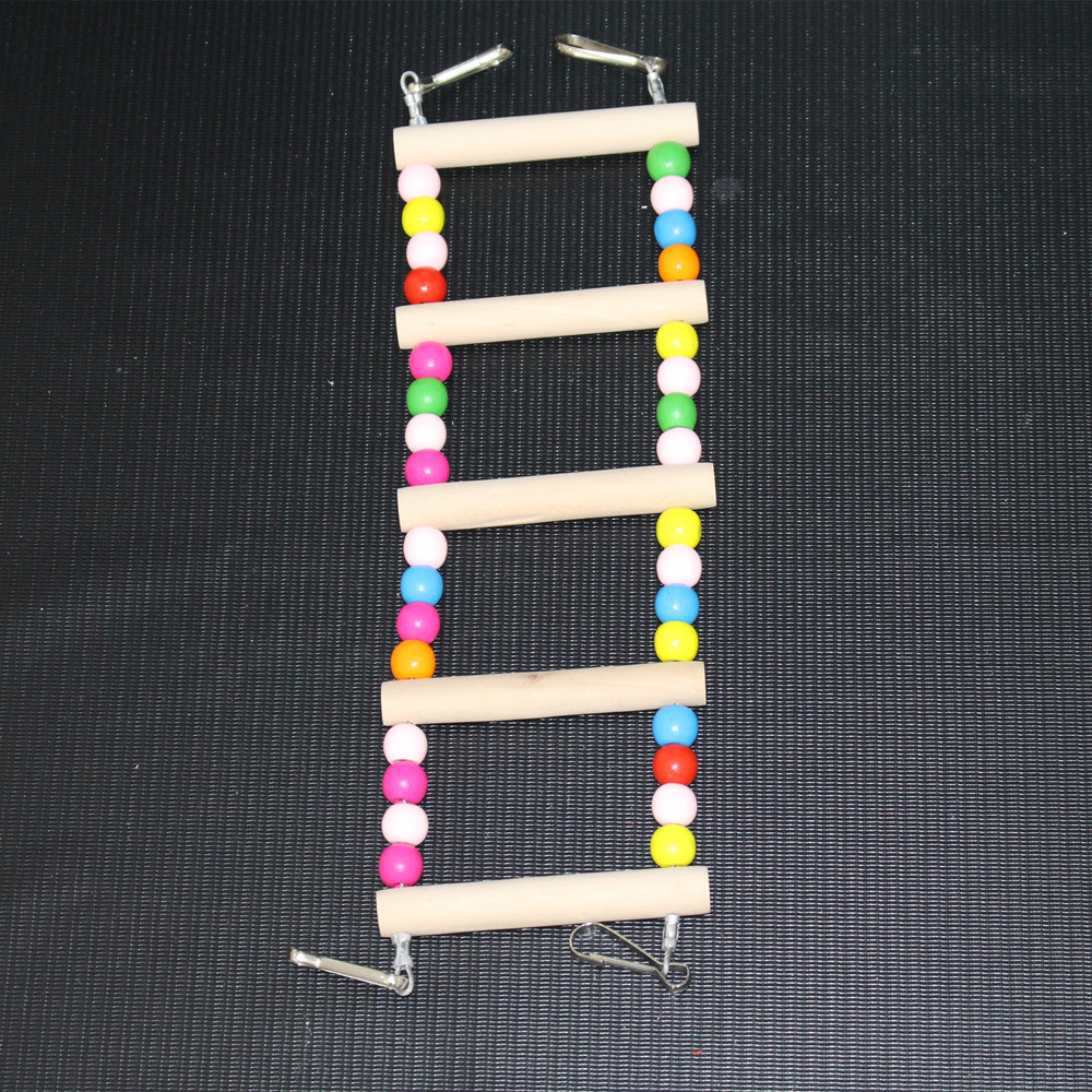 Parrot Brid Toy Wooden Ladder Bird Toy