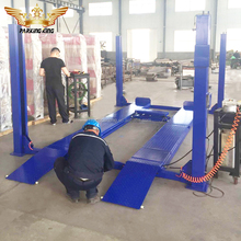 second lift jack 4 post 3D wheel alignement car lift