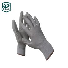 china hot sale kids plain white pu coated cotton gloves