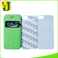2016 hot sale Sublimation leather phone case for iphone 5 5s