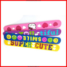 Custom universal sport silicone slap wirstband/ bracelet with competitive price