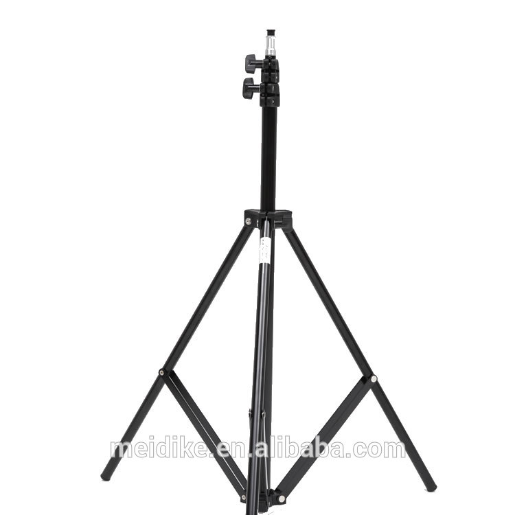 adjustable metal photo studio light stand max height 280cm, three section light stand for video camera accessories