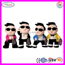 B048 Soft Korean Cartoon Gangnam Style Doll Stuffed Plush Gangnam Style PSY Doll