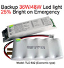 Led Emergency Conversion Kit Power Pack 3Hour Battery Backup LED Light 36W/48W 25% Brightness