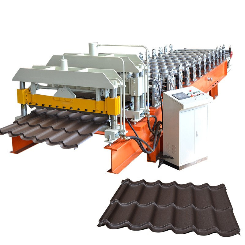 2016 YUFA hot sale 1100mm roofing panel machine manufacturer glazed shape metal roof tile Roll Forming Making machinery