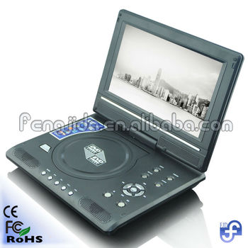 factory price 9 inch portable dvd player with high quality