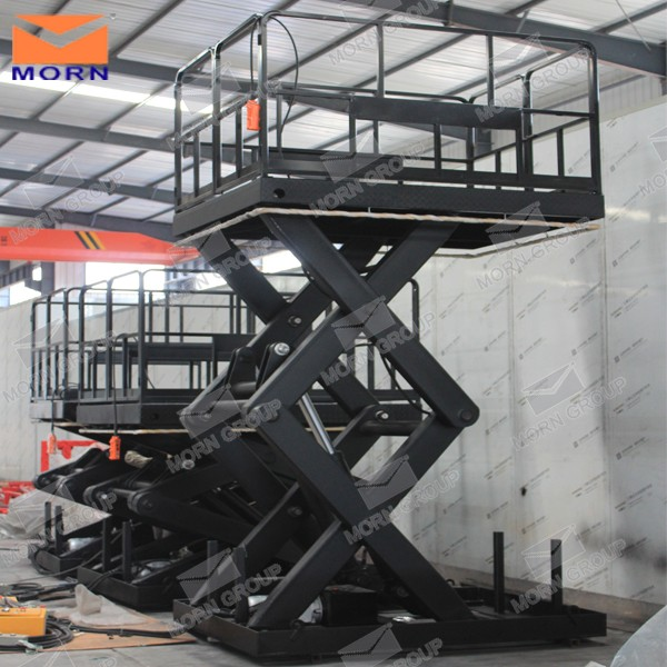 custmize available fixed hydraulic in-ground scissor lift