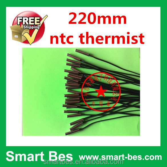 Smart Electronics~ 100% Quality 20pcs/lot NTC temperature sensor, length 220mm ntc thermist