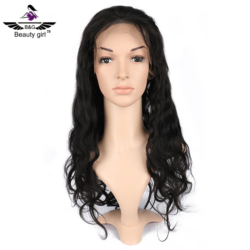 Beauty girl hair wholesale body wave full lace wigs natural looking large african american wigs