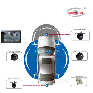 PJ-AUTO Surround 360 Degree Bird View Car Camera System , 4 Way Video Recording and Playback , 1080P Full HD , Night Vision