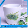 Newest creative design panting flowers ceramic coffee mug with handle
