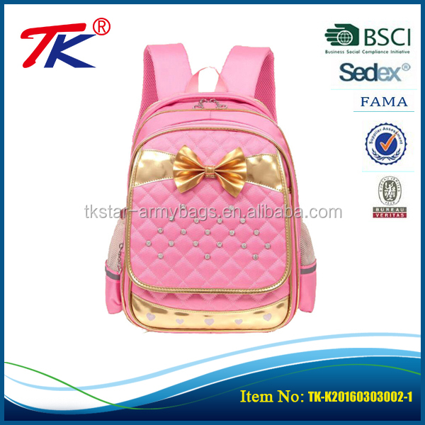Wholesale sublimation cute bow school bags for teenage girls