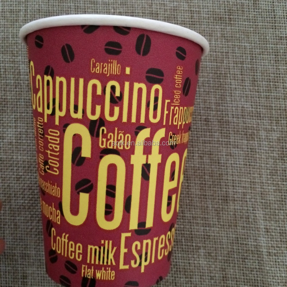 pe coated paper cup blank coffee cups retail colored styrofoam cups