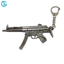 Make Your Own Special Design Metal gun model custom keychain for kid toys