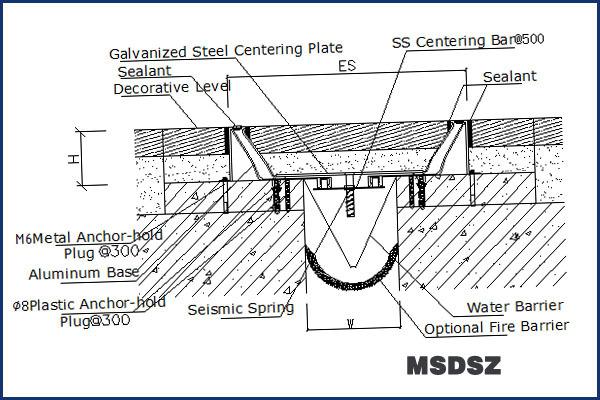 Expansion Joints In Buildings : Marble concrete floor flush aluminum seismic expansion