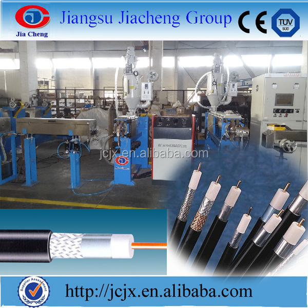 Dual Layer PE Physical Foam Coaxial Cable Extruder or Extruding Production Line