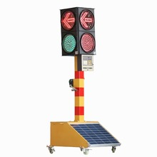 Top grade Good supplier solar powered arrow led traffic light for traffic warning portable yellow solar traffic light with long
