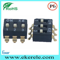Electric Motor On Off switch SMD SMT Dip Switch 3 Position