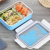 Hot Pot 304 Stainless Steel Metal Rectangular Plastic Food Container With Dividers Compartment