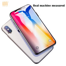 Custom 9H High Transparent 0.26MM 2.5D tempered glass screen Protector For iPhone X