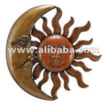 Sun Moon Metal Wall Art Sculptures Wall Hanging