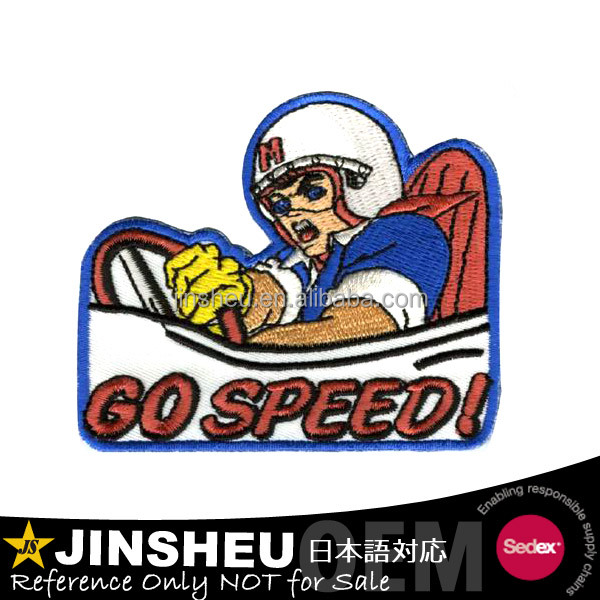 biker decoration custom embroidered motorcycle racing patches