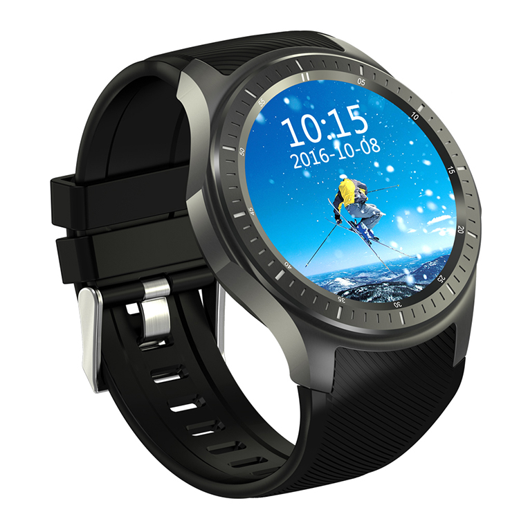 Good look color display phone 1.39'' amoled gps dm368 android watch